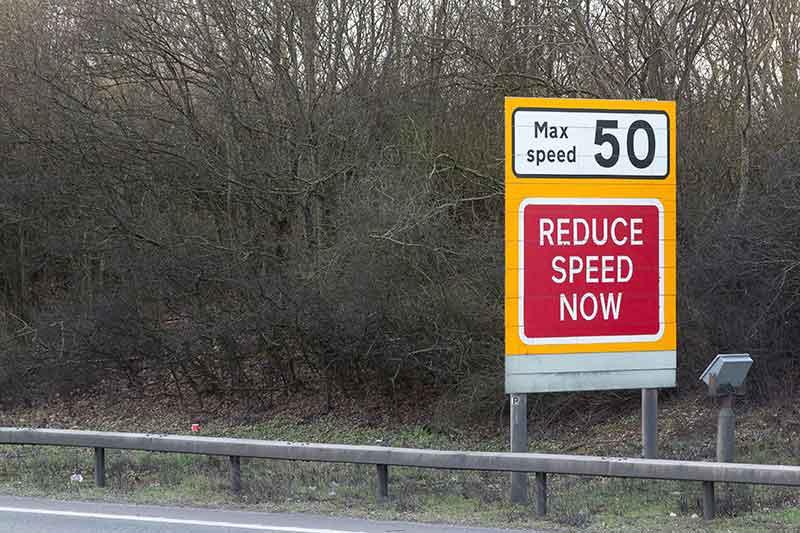 Motorway Speed Sign